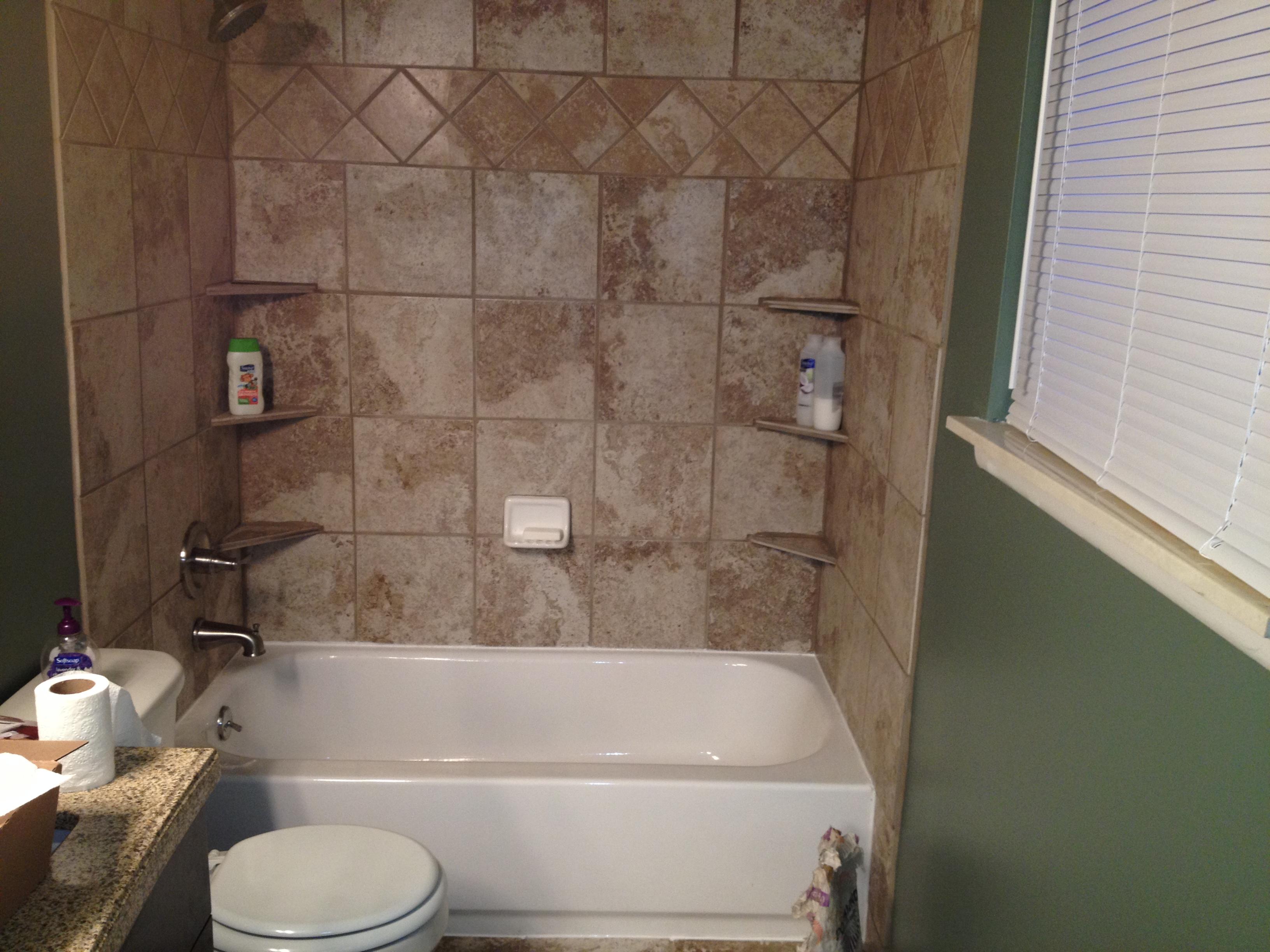 shower tub surround white tile advice. Black Bedroom Furniture Sets. Home Design Ideas