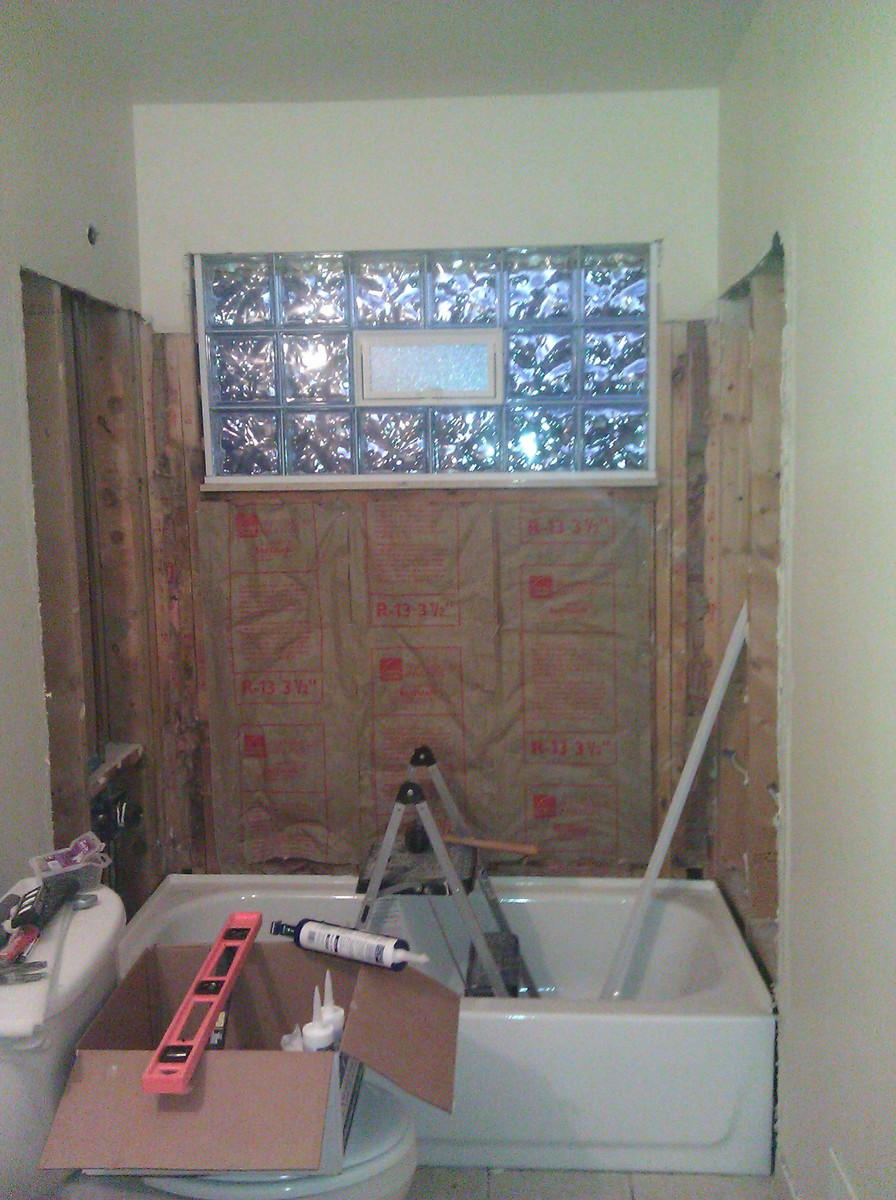 Simple 20 remodeling bathroom with window in shower for Acrylic vs glass windows