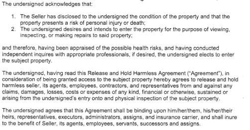 Would You Sign This Waiver To See A Property