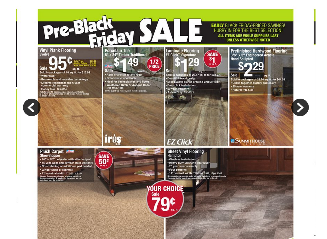 menards vinyl plank/sheet and porcelain tile