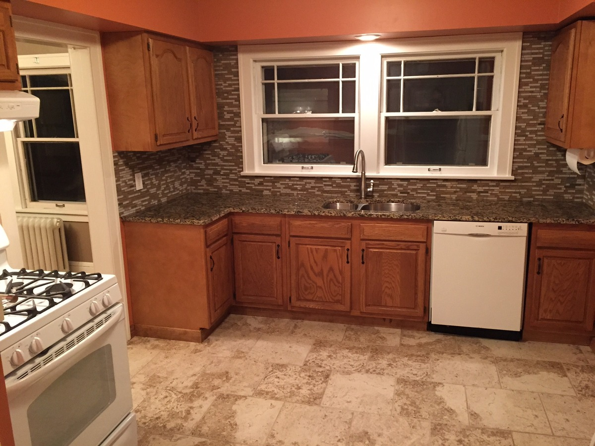 Granite Countertop Paint Menards : for this!), new cabinet hardware, updated countertops, and a paint ...