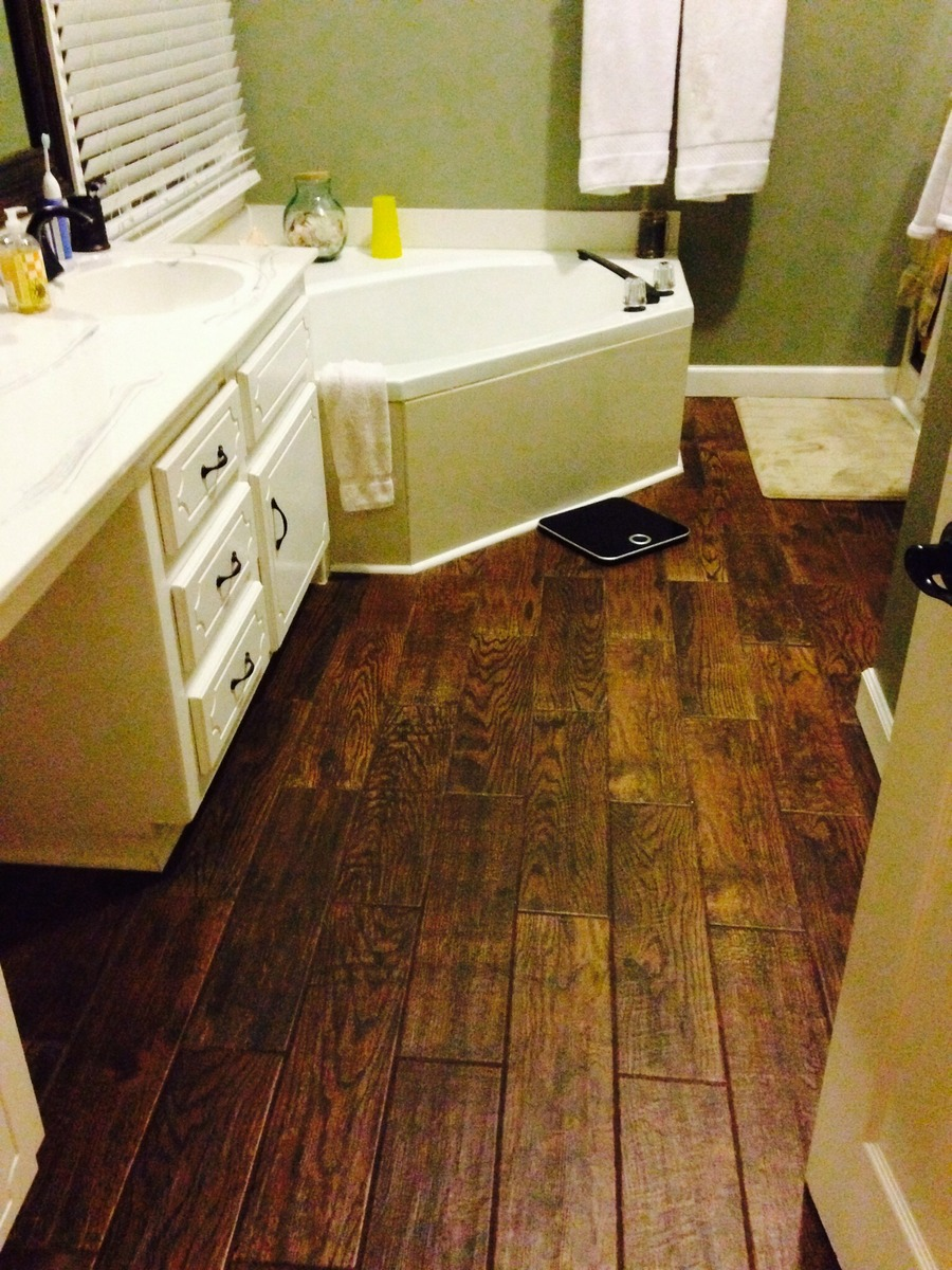 porcelain wood look tile. what are your thoughts.