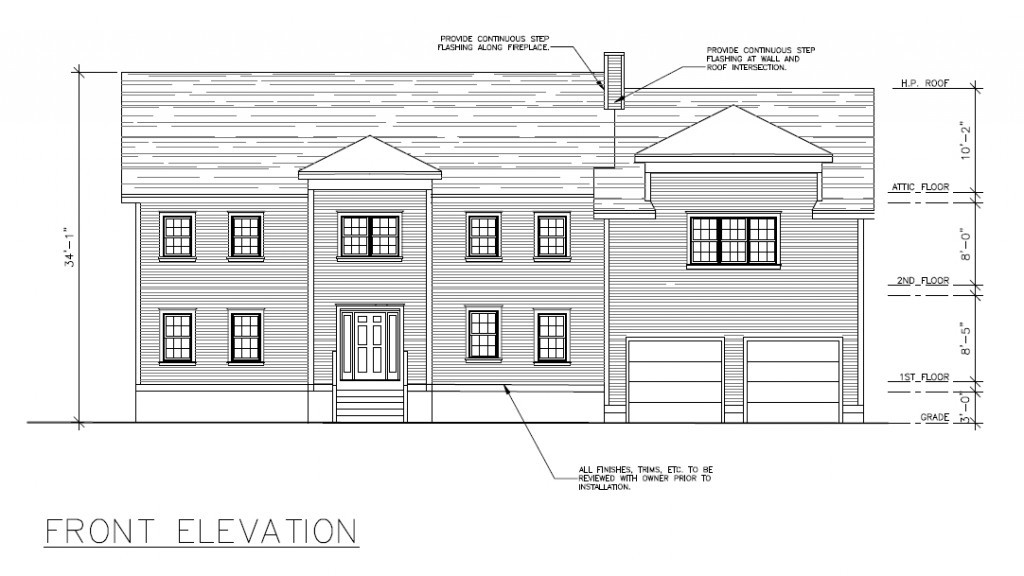 Normal Front Elevation : New construction acton update plans