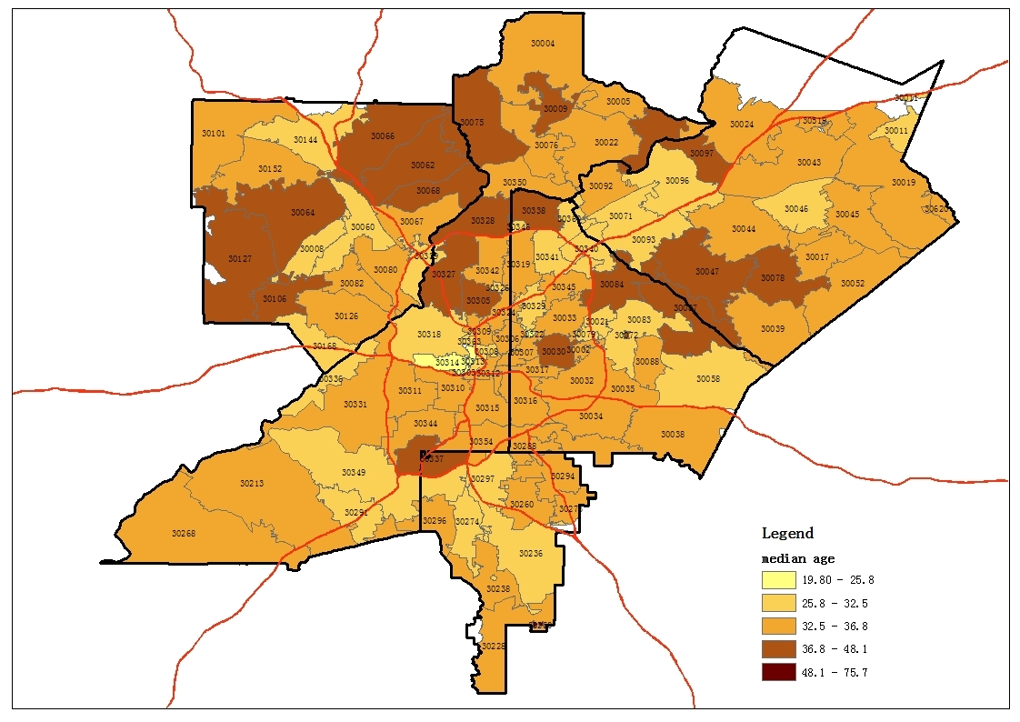 Dekalb Zip Code Map.Map Based Atlanta Zip Code Study