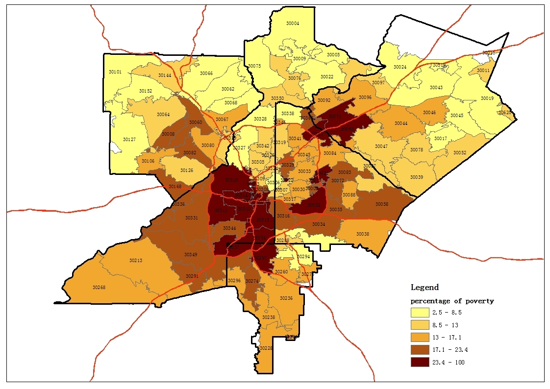 Atlanta Zip Code Map Map based Atlanta zip code study Atlanta Zip Code Map