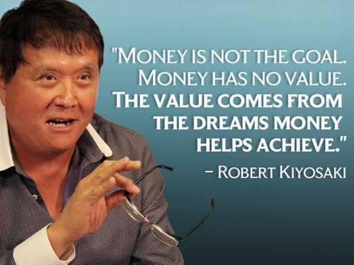 Motivational Quote on Money - Robert Kiyosaki