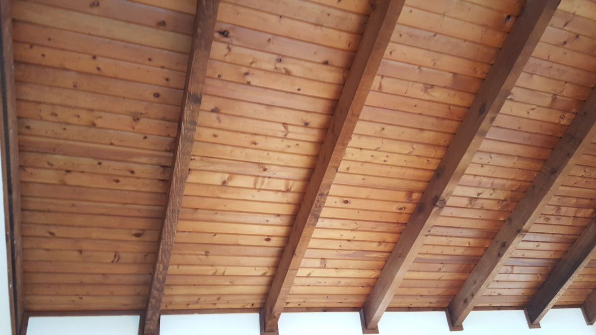 paint cedar tongue and groove and beams?