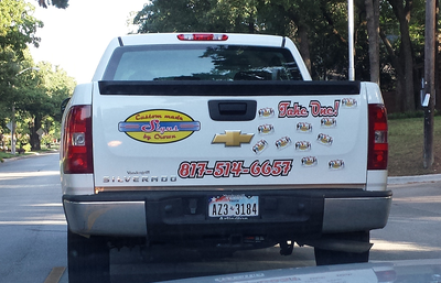 New Vehicle Advertising Design Feedback - Custom car magnets small