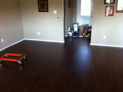 Below Are Two Of My Houses That I Personally Installed The Floor. One Is  Laminate @ $1.99 Sq/ft. The Other Is Engineered Hardwood @ $3.99 Sq/ft.