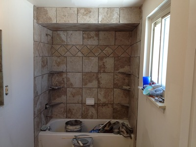 Shower Tub Surround White Tile Advice
