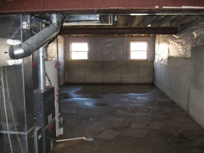 unfinished basement. Any ideas what mold remediation on this 1 200 SF unfinished basement would  cost Pics included